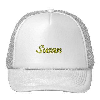 Susan Full White Mesh Hat