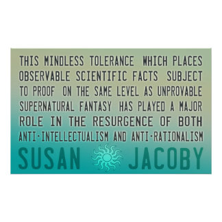 Susan Jacoby | Mindless Tolerance Poster