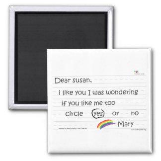 Susan Magnet Square