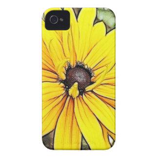 Susan - margarita observadas negro de Gloriosa Funda Para iPhone 4 De Case-Mate