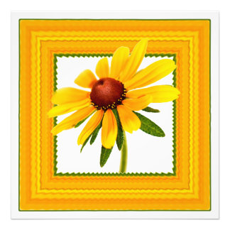 Susan Negro-Observada amarillo en marco cuadrado Arte Fotográfico