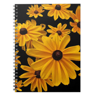 Susan observada negro florece el cuaderno floral