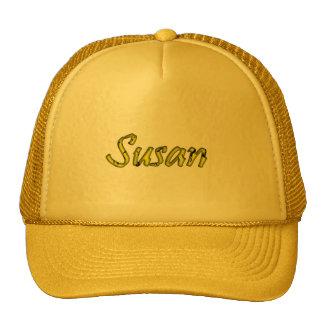 Susan yellow mesh cap for ladies