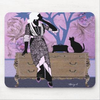 Susana en púrpura y el azul - Mousepad