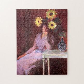 Susana Hoschedé con la bella arte de Monet de los Rompecabeza Con Fotos