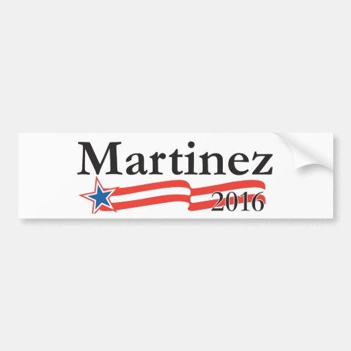 Susana Martínez para el presidente 2016 Pegatina Para Auto