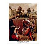 Susana y las ancianos de Lorenzo Lotto Tarjetas Postales