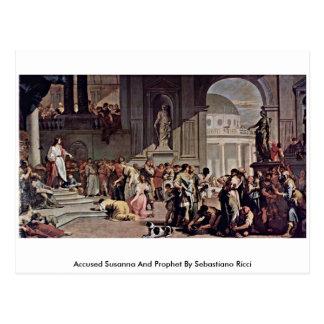 Susana y profeta acusados de Sebastiano Ricci Postal