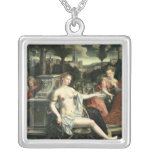 Susanna and the Elders, 1567 Square Pendant Necklace