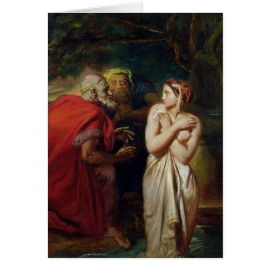 Susanna and the Elders, 1856 Card
