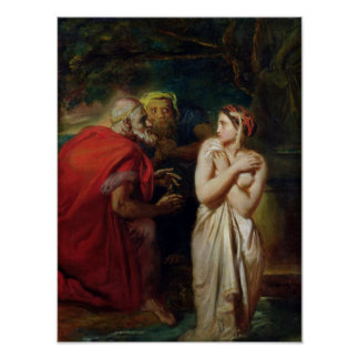 Susanna and the Elders, 1856 Poster