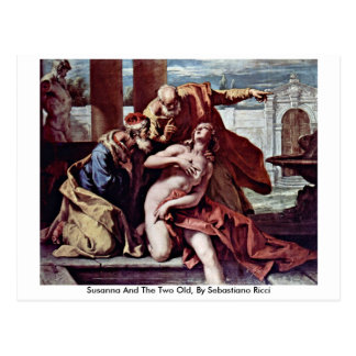 Susanna And The Two Old, By Sebastiano Ricci Postcard
