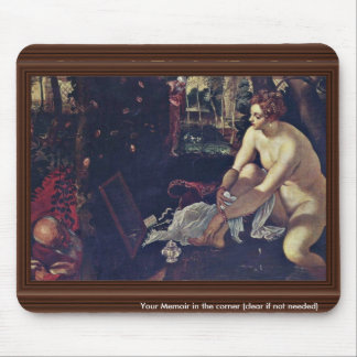 Susanna,  By Tintoretto Jacopo (Best Quality) Mousepad