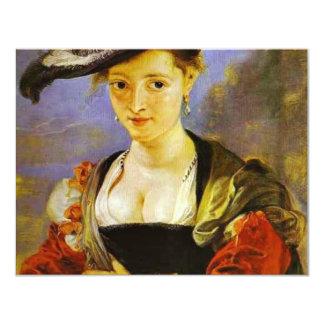 Susanna Fourment,  By Rubens Peter Paul 4.25x5.5 Paper Invitation Card