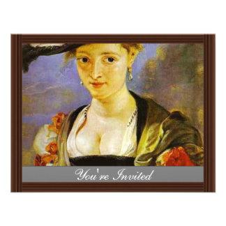 Susanna Fourment,  By Rubens Peter Paul Custom Invitations