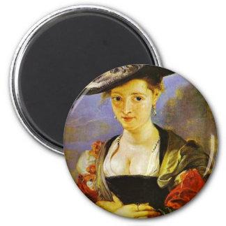 Susanna Fourment,  By Rubens Peter Paul Refrigerator Magnet