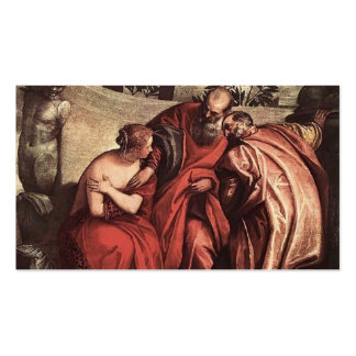 Susanna in the Bath by Paolo Veronese Business Card