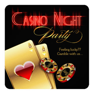 Susanne Vegas Casino Night Birthday Party Card
