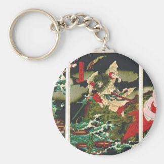Susano que mata los Yamata-ningunos-Orochi 1870s d Llavero Redondo Tipo Pin