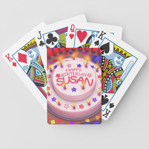 Susan's Birthday Cake Bicycle Card Deck
