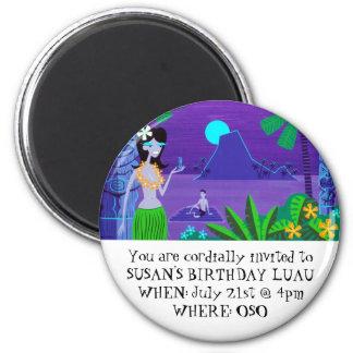 SUSAN'S BIRTHDAY LUAU - Night Magnet