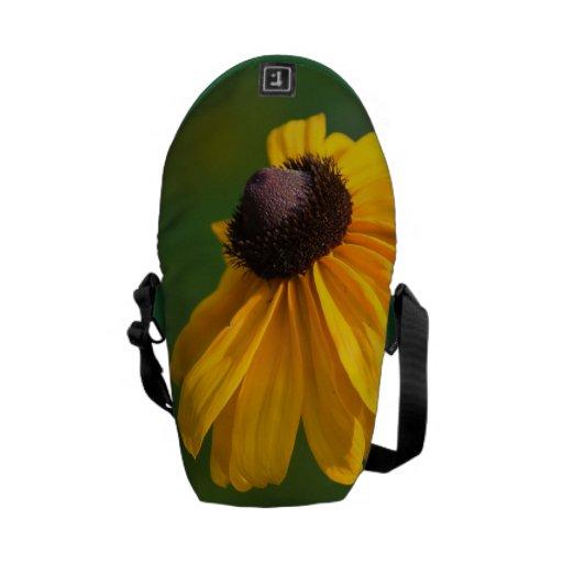 Susans observado negro floreciente bolsas messenger