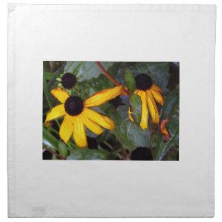 Susans observado negro - pasado de verano servilleta imprimida