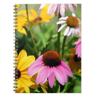 Susans observado negro y jardín rosado de la marga cuaderno