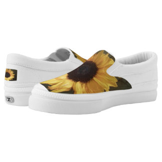 Susan's Sunflower Canvas Slip-Ons