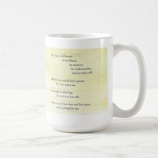 Suscipe (Prayer of St. Ignatius) Coffee Mug