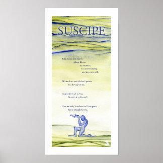 Suscipe (Prayer of St. Ignatius) Poster