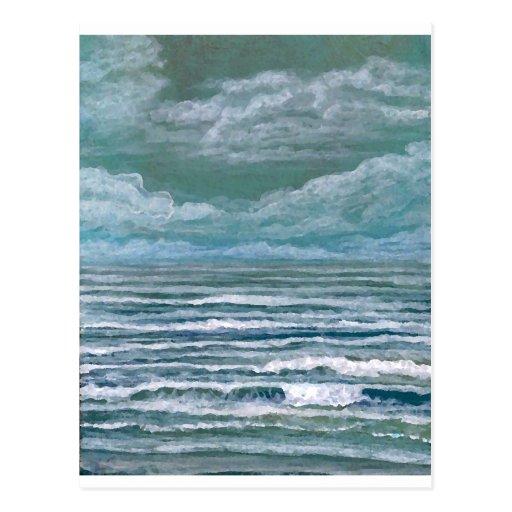 Suscitados regalos del arte de la playa de la postal