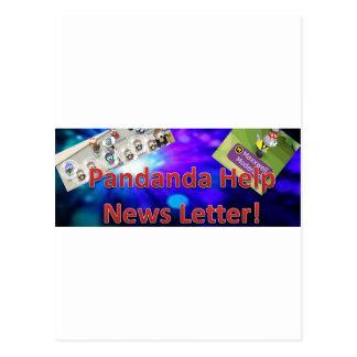 Suscribí al hoja informativa de la ayuda de tarjeta postal