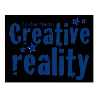 Suscribo a la realidad creativa postal