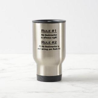 Suscriptor de la regla tazas de café