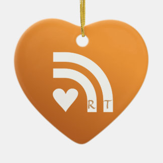 Suscrito a su colgante del corazón de las tarjetas adorno navideño de cerámica en forma de corazón
