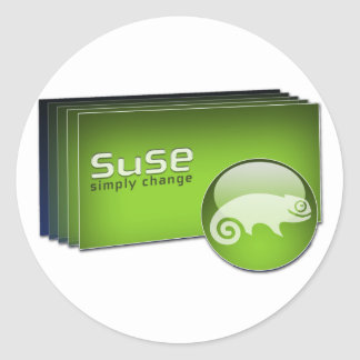 Suse symple change classic round sticker