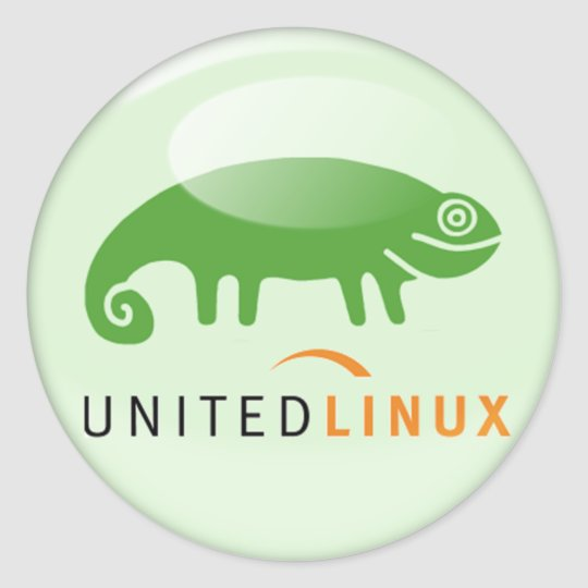 Suse United Linux Classic Round Sticker