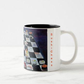 Sush Chess Two-Tone Coffee Mug