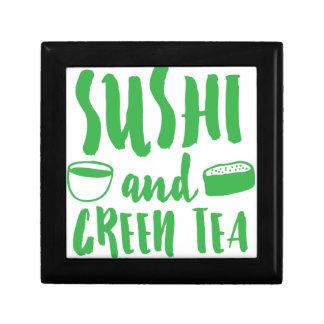 sushi and green tea gift box