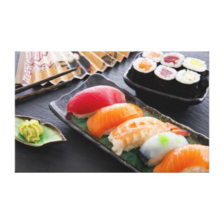 Sushi and rolls canvas print