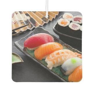 Sushi and rolls car air freshener
