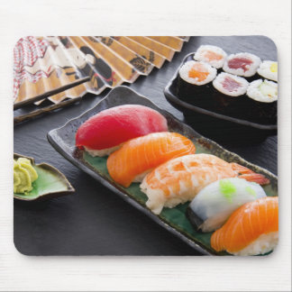 Sushi and rolls mouse pad