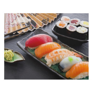 Sushi and rolls panel wall art