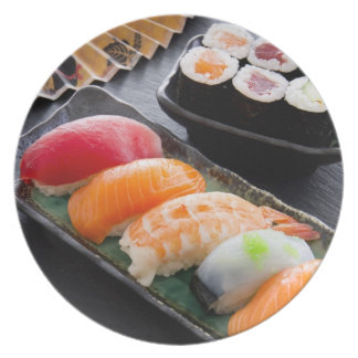 Sushi and rolls plate