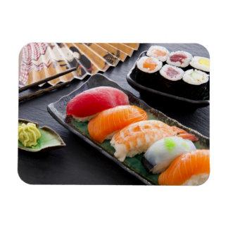 Sushi and rolls rectangular photo magnet