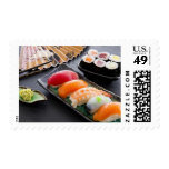 Sushi and rolls stamps