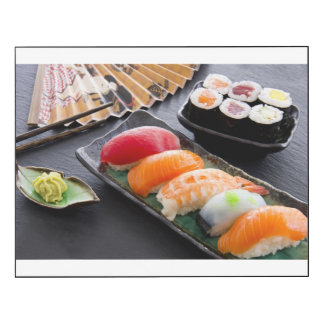 Sushi and rolls wood wall art