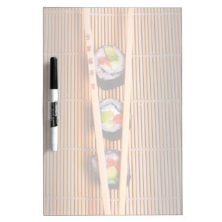 Sushi and wooden chopsticks Dry-Erase whiteboard