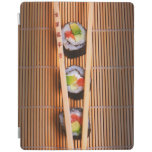 Sushi and wooden chopsticks iPad cover